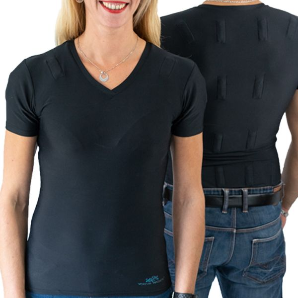 pack duo woman man tshirt anti backache and shoulders