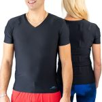 sporty man woman couple wearing t shirt in preventive as curative